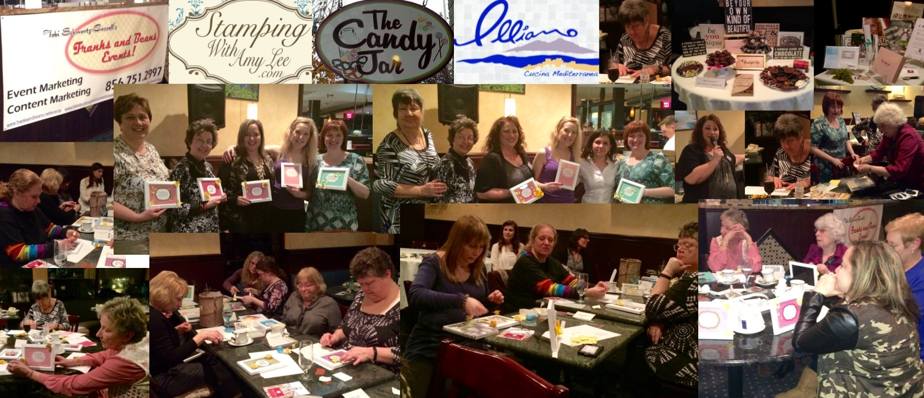 I'm not much of a crafter, but our instructor, Amy Ettelson, made it easy for me and my guests. And Illiano's–as usual–served up some really awesome food!