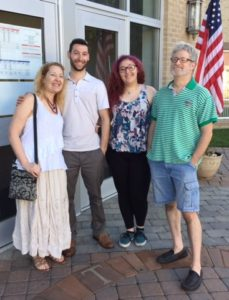 Yep, that's us! We all met to vote together on Primary Day 2016. From l to r: Tobi (me), Richard (our son), Jardin (our daughter, voting for her first time ever!) and Stan (my hubby).