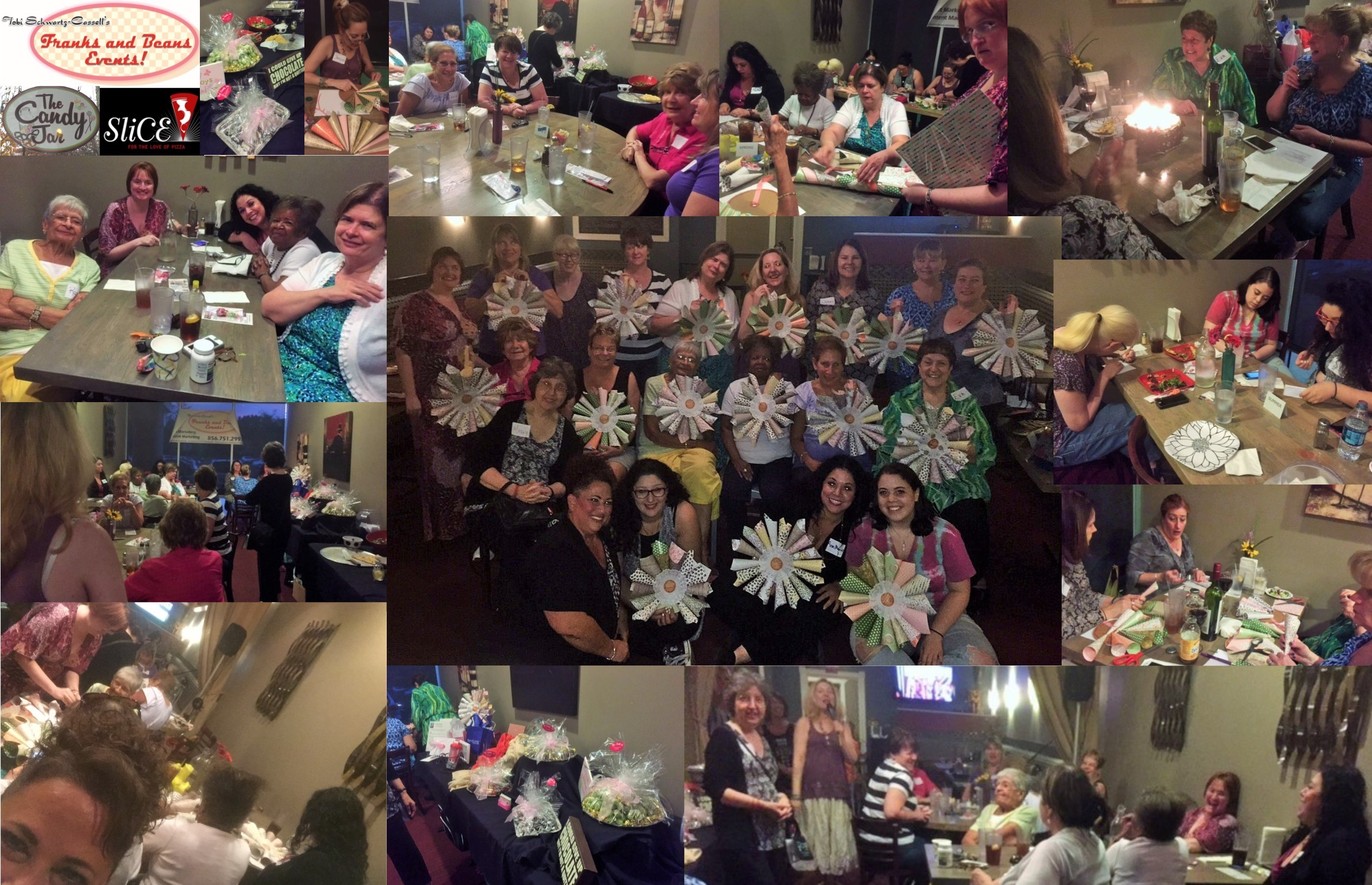 Such cute wreaths! Designer Instructor Amy Ettelson led this fun Crafting Dinner. Lots of fun, friendship and delicious food plus prizes and a Chocolate Buffet from sponsor The Candy Jar of Collingswood.