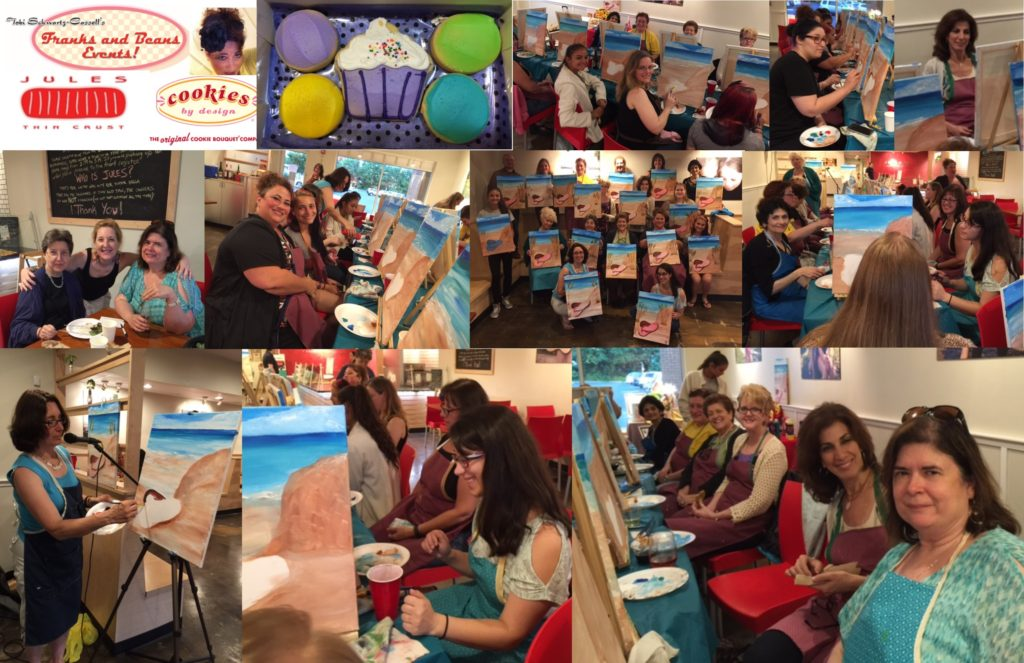 Painting Dinner-June 28 2016 Pix Collage