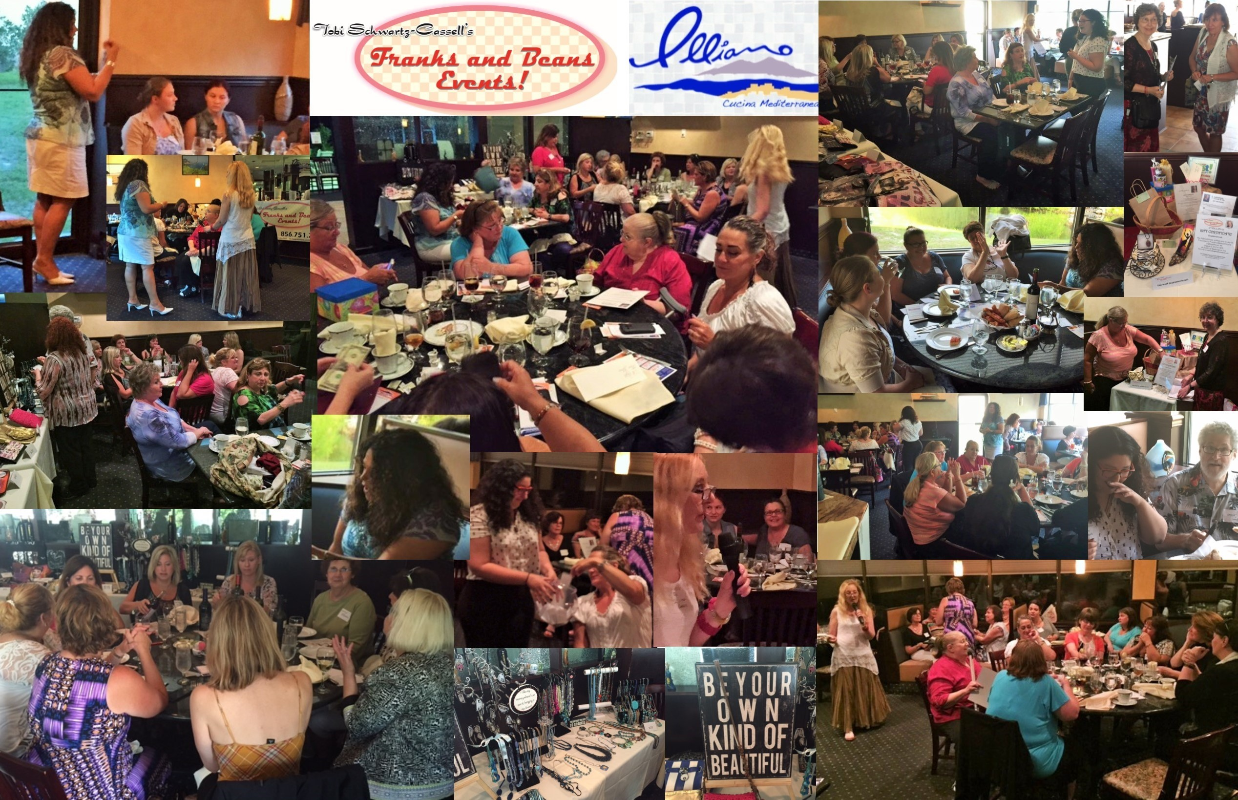 Rhonda was accurate, compassionate and funny. Illiano's food and service were perfect. And everyone had a blast with the door prizes!