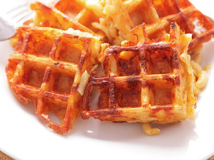 Click on the word Waffles and check out the 3rd recipe for Mac Cheese Waffles. I can't wait to try it!
