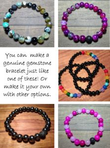 Make and take gemstone bracelets
