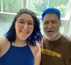 Stan and Jardin with blue hair
